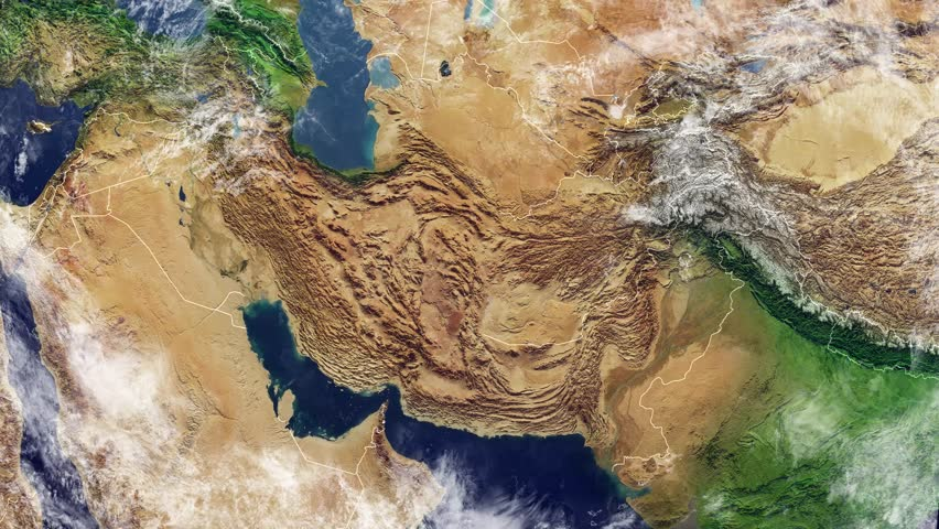 Map Of Afghanistan And Borders Physical Map Middle East Arabian