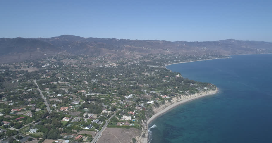 Aerial Malibu Zuma Ridge / Paradise Cove Clear perfect day Shot on Phantom 4 Drone Pro H265 converted to Prores 4444 4k DCI source - Full set of 18