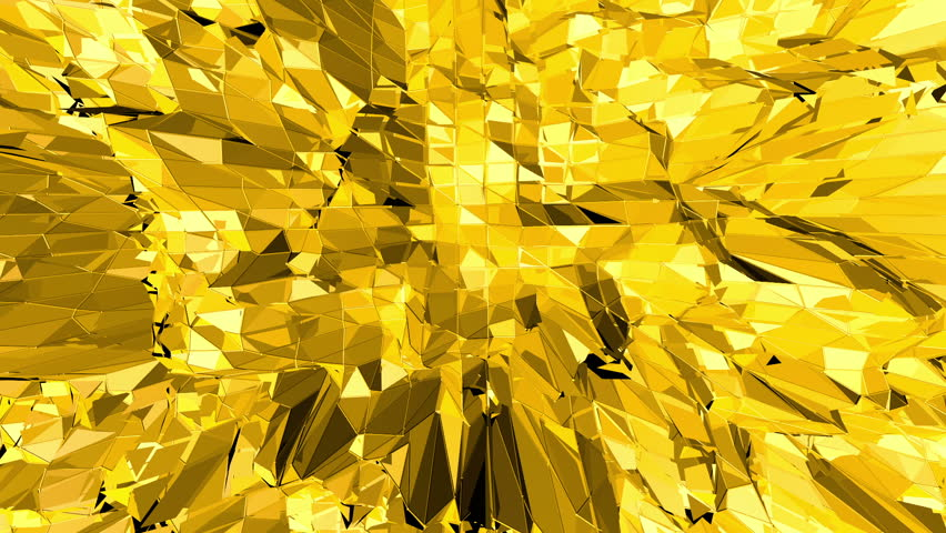 Yellow low poly background oscillating. Abstract low poly surface as game landscape in stylish low poly design. Polygonal mosaic background with vertex, spikes. Modern 3D design. | Shutterstock HD Video #31279372