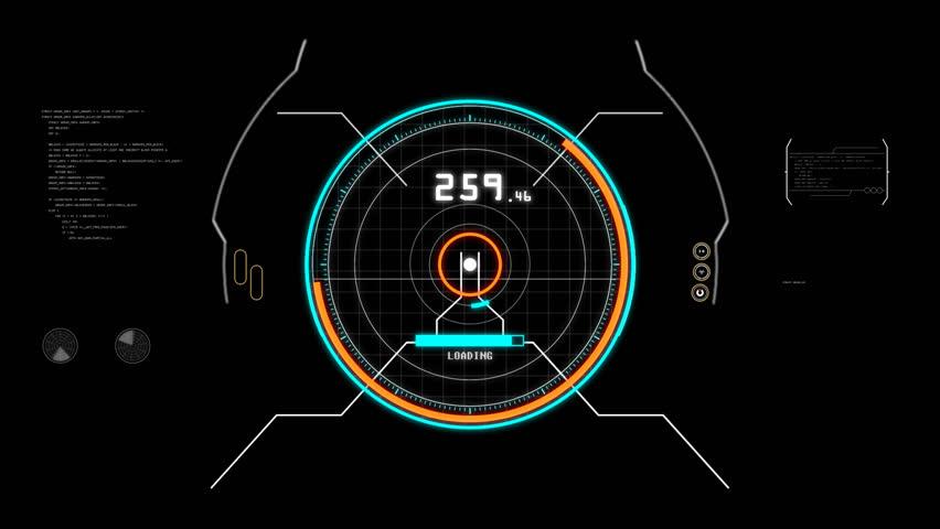 Digital Hud. Futuristic computer interface alpha chanel