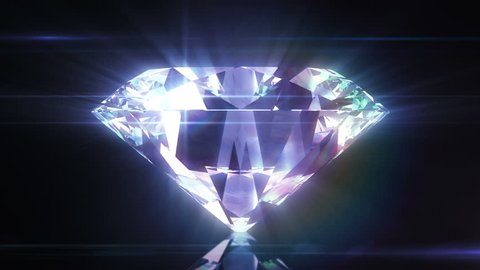 Beautiful Diamond Close-Up with Matte in Looped animation. HD 1080.