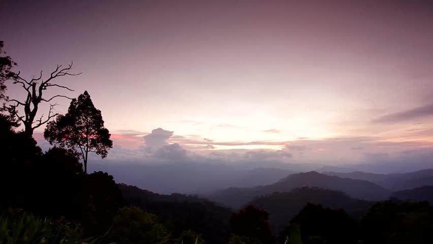 Sunset at kangkrachan national park, thailand | Shutterstock HD Video #3133474
