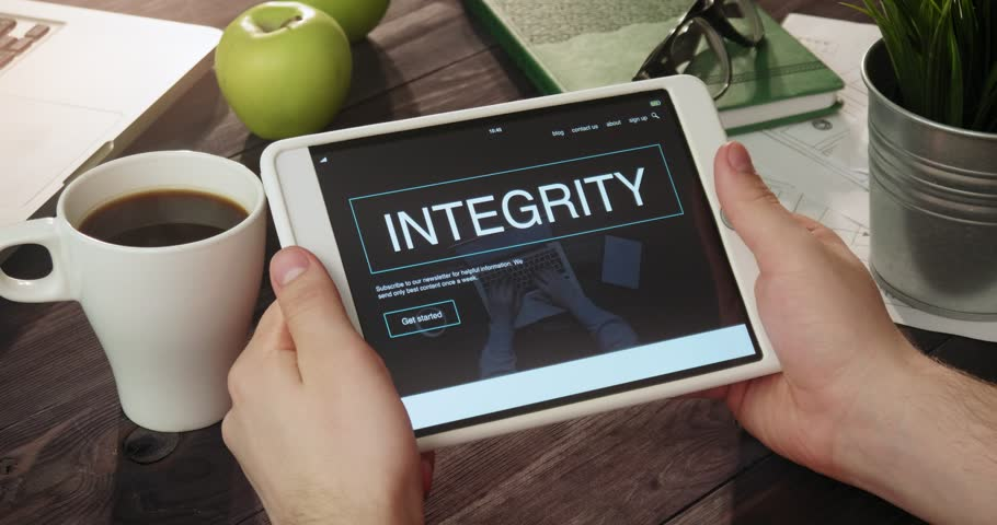 Checking integrity information using tablet computer | Shutterstock HD Video #31354762
