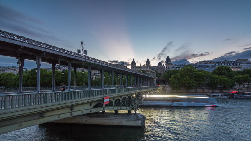 View Of Pont De Bir Hakeim Stock Footage Video 100 Royalty Free 31358272 Shutterstock