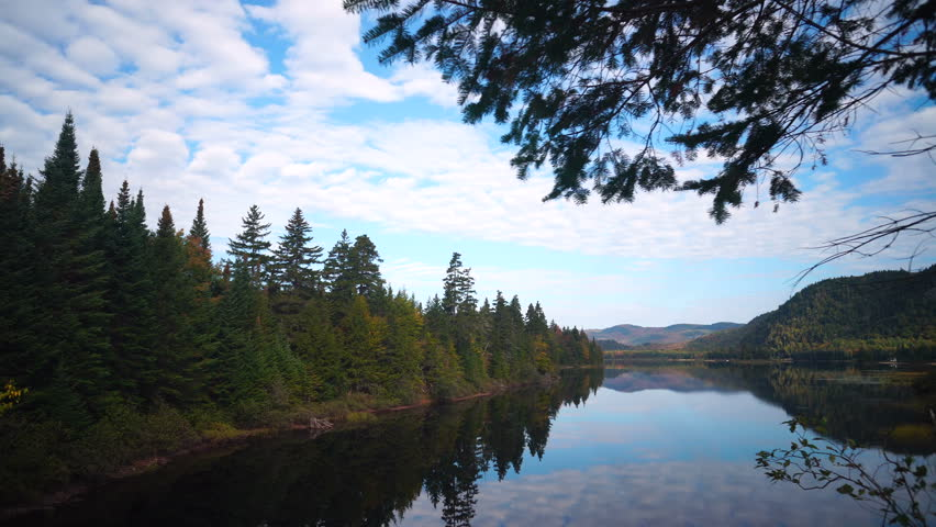 Cinematic View of Mont-Tremblant National Park (Quebec, Canada) | Shutterstock HD Video #31411339