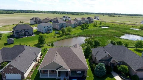 houses in rural subdivision