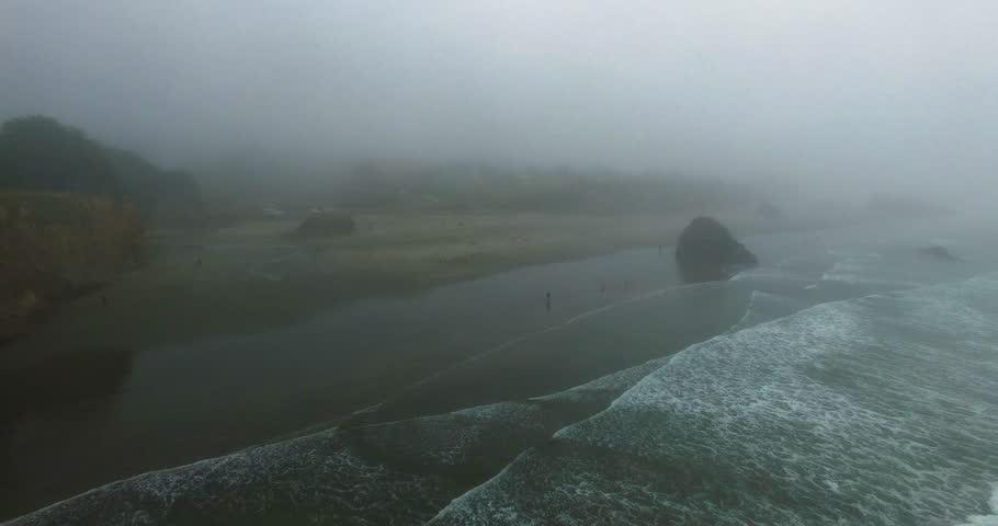 Foggy ocean coastline | Shutterstock HD Video #31417162