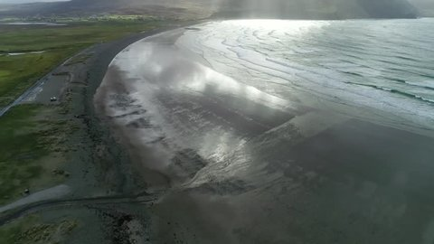 Keel Beach Fly Over, Achill, Ireland