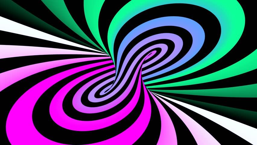 Hypnotic spiral illusion seamless looping