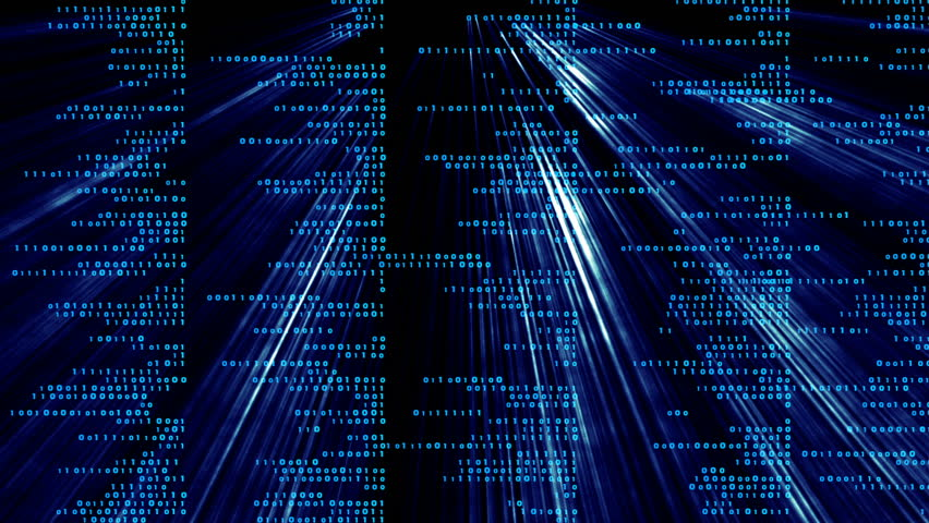 Blue lines of binary code and shine. cinematic background. | Shutterstock HD Video #31485922
