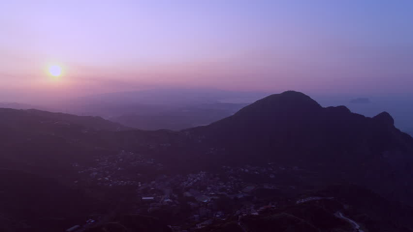 Sunset at beautiful coastal mining town, Jinguashi (along with Jiufen) is one of Northern Taiwan's best destinations . | Shutterstock HD Video #31521142