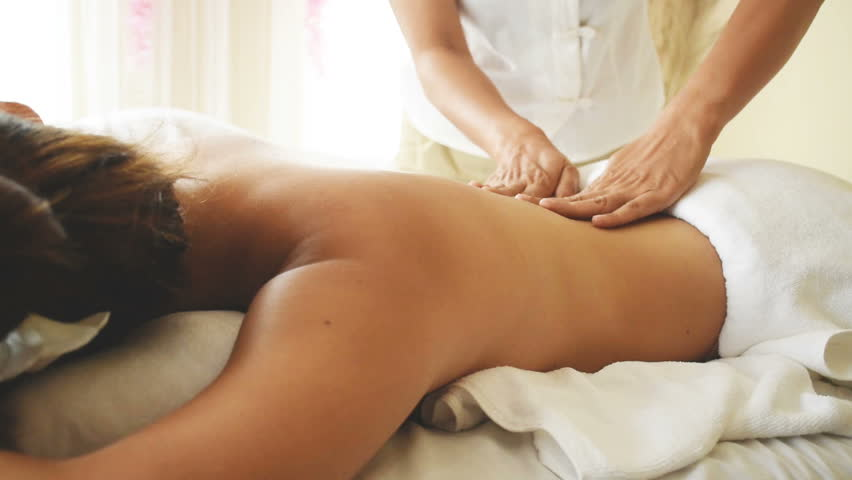 Real asian masseuse stroke video
