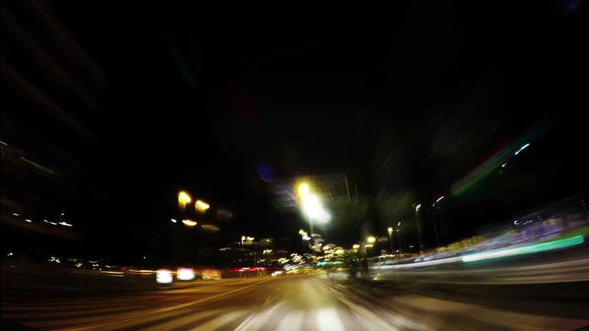 City traffic at night , drunk driving concept , time lapse  | Shutterstock HD Video #31550482