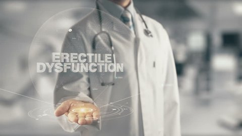 Doctor holding in hand Erectile Dysfunction