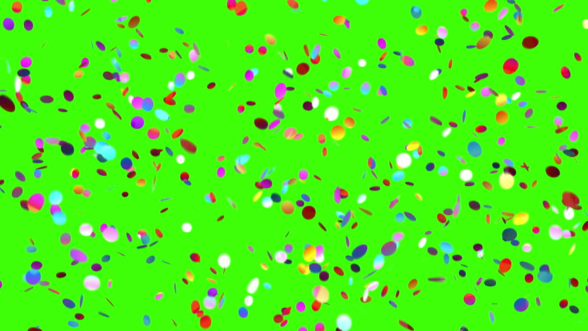 Confetti Falls on a Green Background, Looped 3d Animation, 4K.  | Shutterstock HD Video #31589182