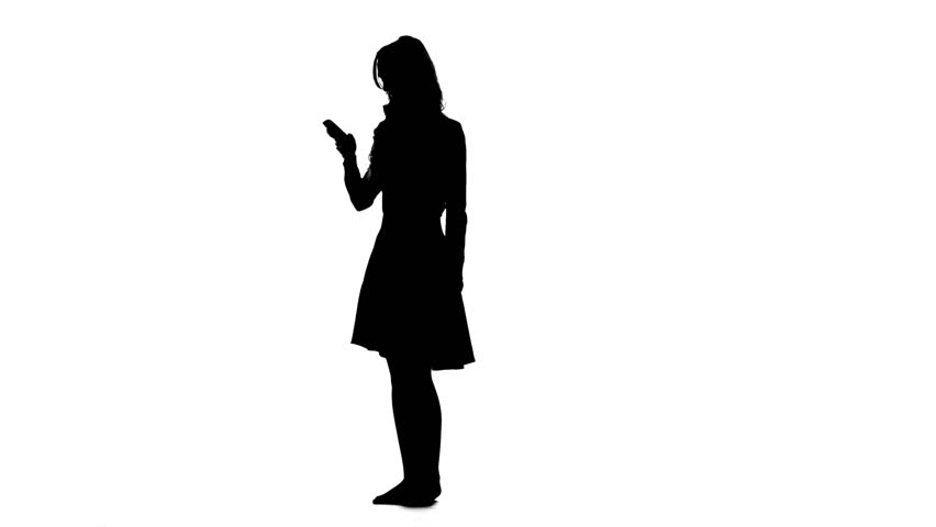 Mysterious Woman In Silhouette Talking On The Phone ...