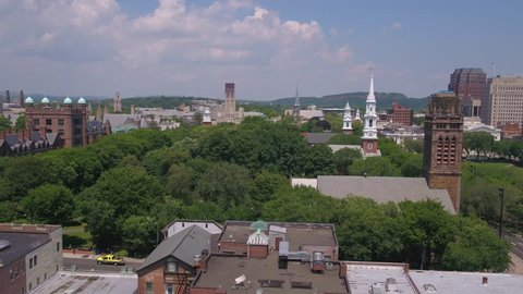 Aerial Connecticut Newhaven July 2017 Sunny Day 4K Inspire 2