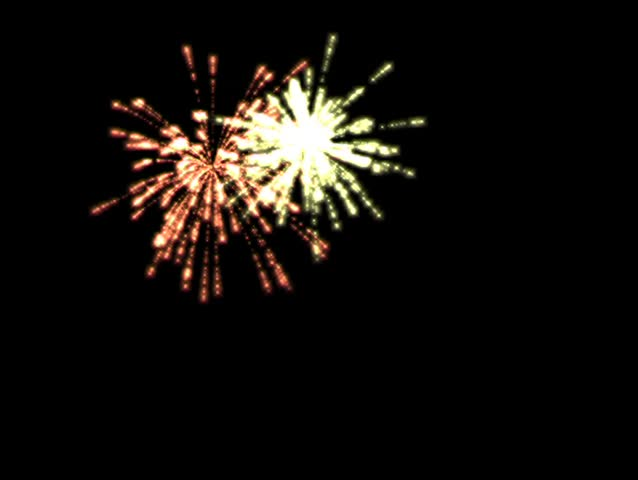 3d alpha channel fireworks