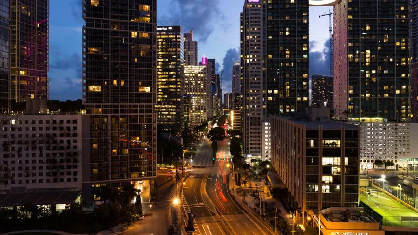 Brickell, Miami 4K time-lapse | Shutterstock HD Video #31698439
