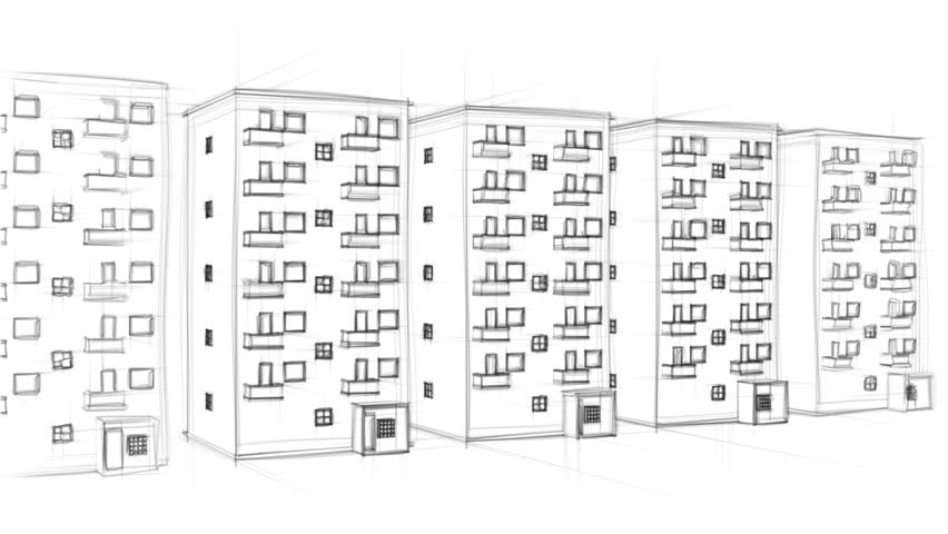 Drawing Of Apartment Complex Stock Footage Video Shutterstock