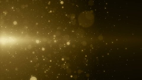 Particles gold glitter awards dust abstract background vj loop
