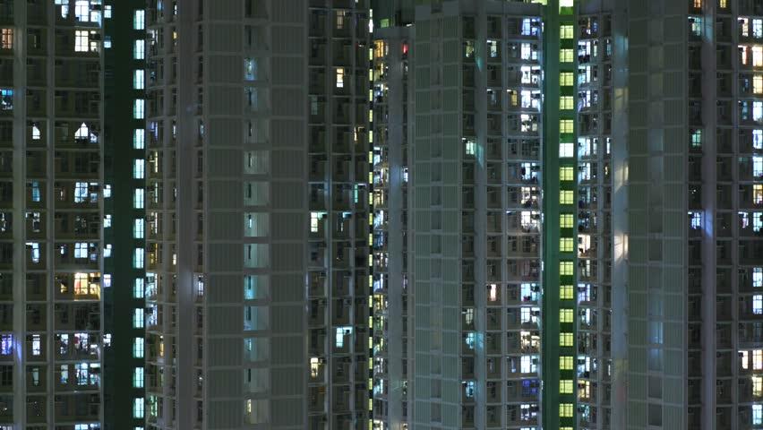 Time lapse of Hong Kong building facade | Shutterstock HD Video #31718800