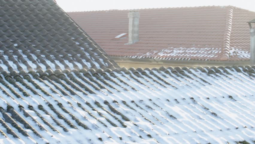 Evaporation On Asbestos Roof Covering In The Morning On A Cold Winter Day  Stock Footage Video 3172102 | Shutterstock