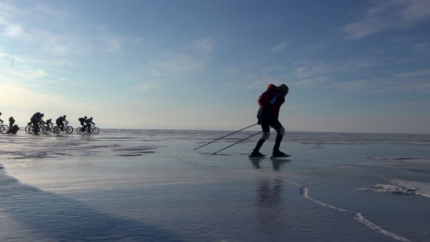 Image result for skating lake baikal winter