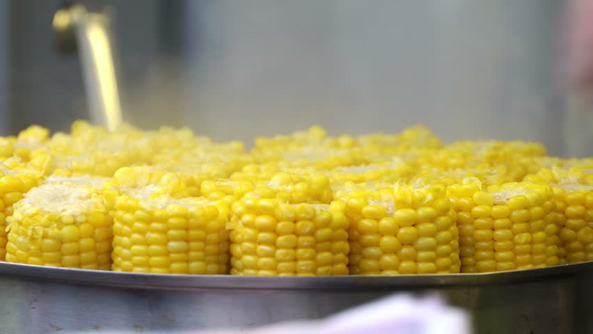 Street fast food cooking corn in boiled water sweet corn sold at cooking corn in boiled water sweet corn sold at city market ccuart Choice Image