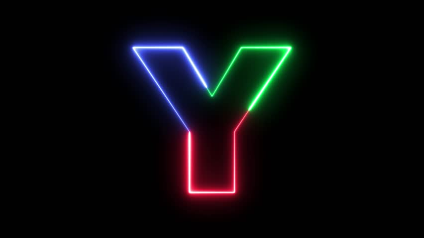 Letter Y - RGB laser outline in three colors looping on black background in 4k | Shutterstock HD Video #31827802