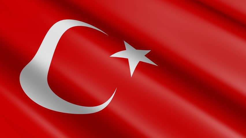 Flag of Turkey (seamless loop)