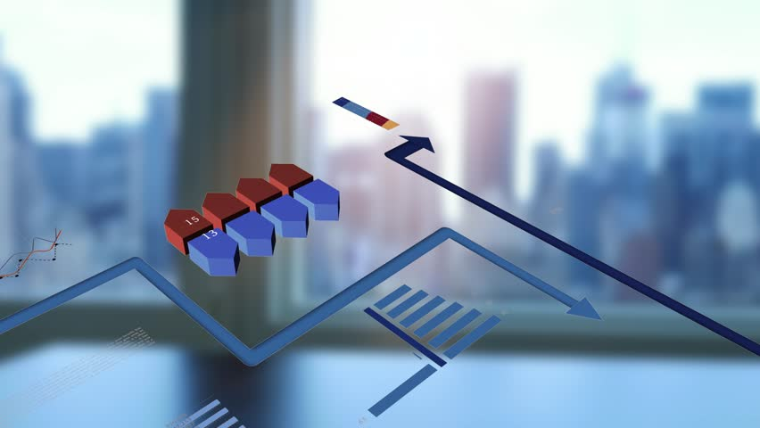 Financial Sales Data Charts Diagrams Animated over Business Concept Background. Global Economy Growth Network Showing on World Map | Shutterstock HD Video #31839922