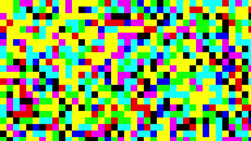 Multicolored blinking pixels motion background | Shutterstock HD Video #31852648