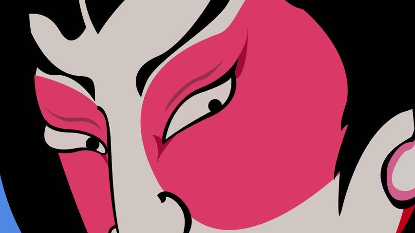 Dramatic Japanese Kabuki Character | Shutterstock HD Video #31854682