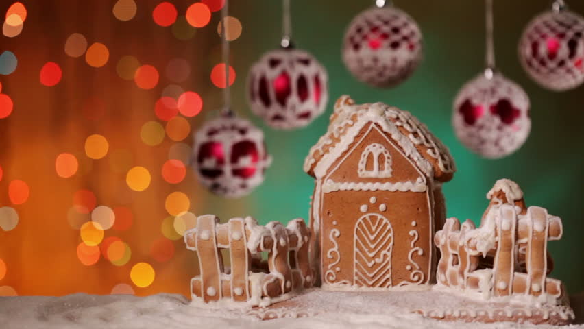 Christmas Gingerbread House Background.Christmas Setting With Gingerbread House Stock Footage Video 100 Royalty Free 31861612 Shutterstock