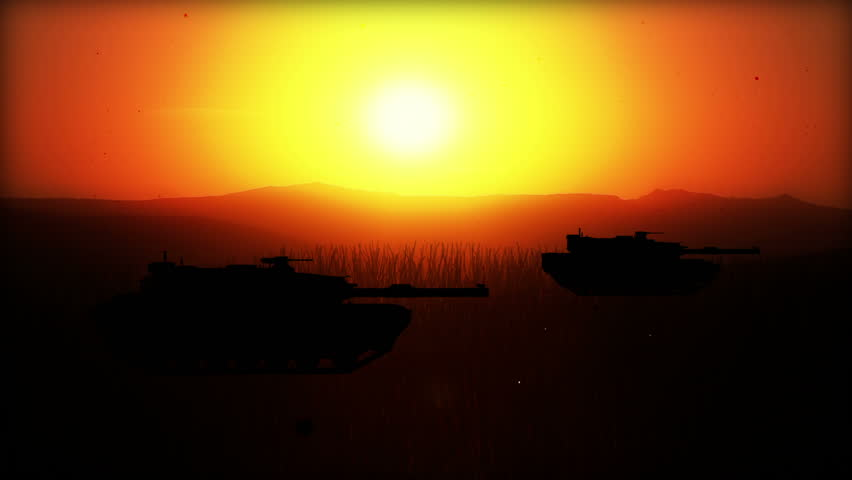 Computer Generated Battlefield W/5 battle scenes (silhouettes) World War II ...