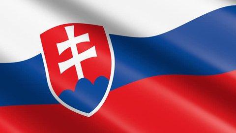 Flag of Slovakia (seamless loop)