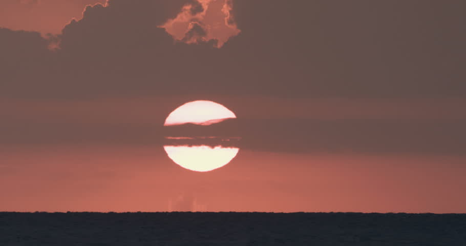 Sunset over the sea, super telephoto footage | Shutterstock HD Video #31900222