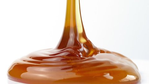 Syrup Pouring Closeup