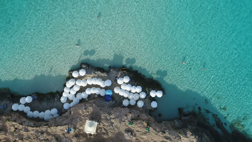 Malta Comino Umberllas Drone Left