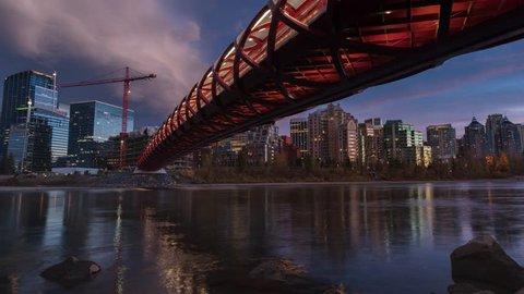 Calgary cityscape time lapse
