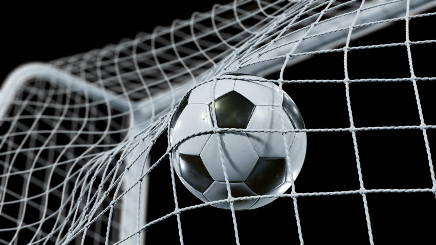 Soccer Ball flying into the Goal Net in Slow Motion. Beautiful Football 3d animation of the Goal Moment. Alpha channel Green Screen. 4k Ultra HD 3840x2160. | Shutterstock HD Video #31968214