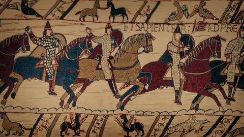 Bayeux Tapestry Moving Closeup