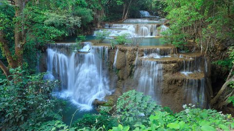 Waterfall in west of Thailand, time lapse video