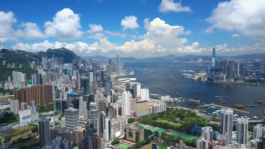 4k aerial video of Victoria Harbour in Hong Kong | Shutterstock HD Video #32046259