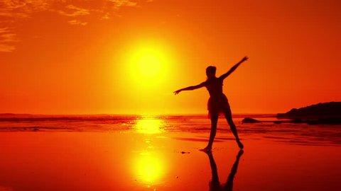 Beach Ballet at sunset