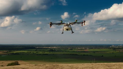 Technology innovation in agricultural industry. Shot in Red Epic Dragon