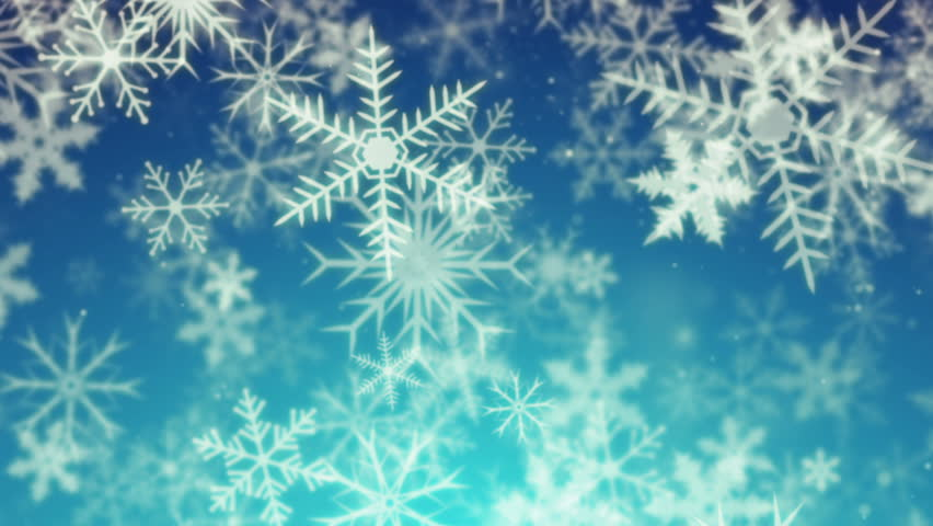 Snowy 2 - Snow / Christmas Video Background Loop /// Abstract, stylized snowflakes! Slowly moving from back to front. Featuring a cool color scheme.