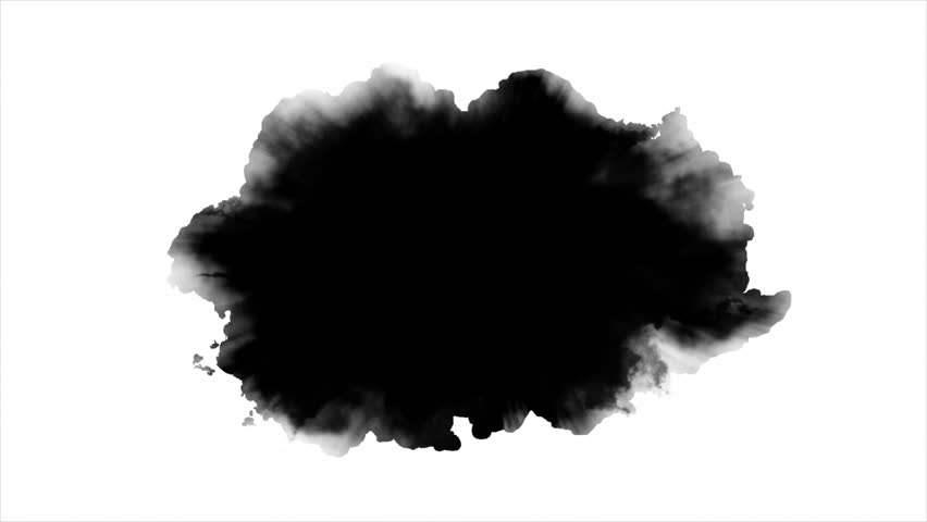 Dripping Ink on white background