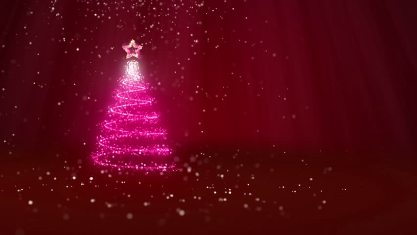 Stock Video Of Christmas Tree From Glow Shiny Particles